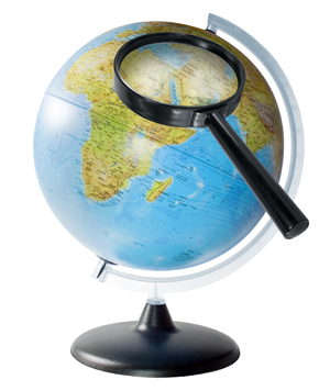globe with magnifying glass1