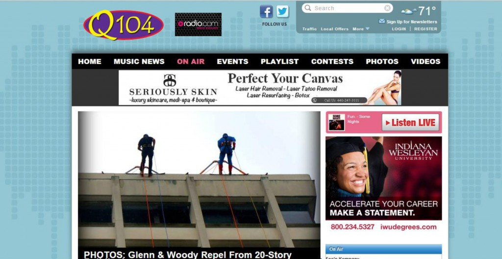 Q104, Cleveland's Q104, how to get radio media interviews