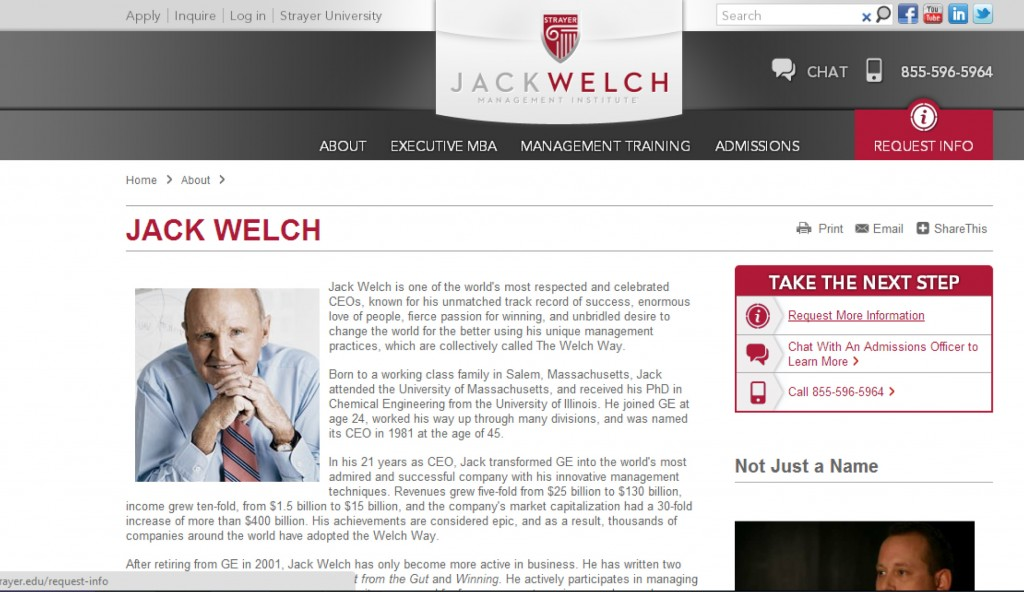 small businesses, Jack Welch, small business blog content
